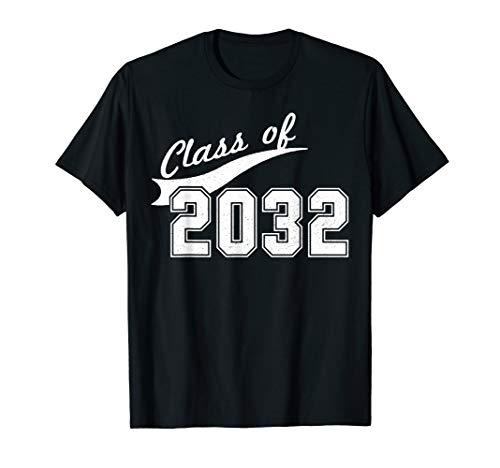 Class Of 2032 T-Shirt - Kindergarten Future Graduate Tee (Class T-shirt Womens Dark)