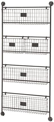 Deco 79 58624 Functional Metal Wall Basket, 24 W x 61 H