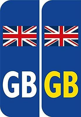 2 x Bandera De Gran Bretaña insignia de GB Coche Matrícula Autoadhesivo Pegatina Vinilos GB legal pegatinas: Amazon.es: Coche y moto