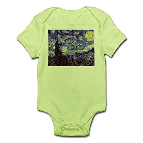 CafePress Van Gogh Starry Night Body Suit Cute Infant Bodysuit Baby Romper