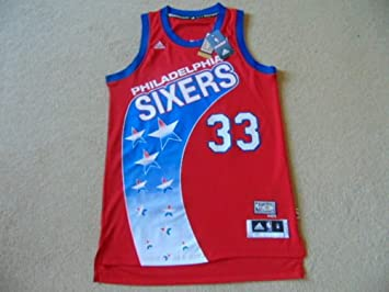 5dea61fe522 Image Unavailable. Image not available for. Colour  Philadelphia 76ers  Adidas Hardwood Classics Swingman NBA Basketball Jersey - Bynum  33 ...