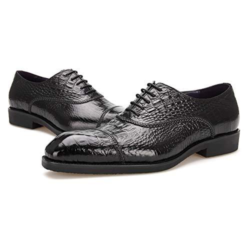 Marrone Black Up Rosso Oxfords Lavoro Taglia Modello Shoes 45EU Nozze Affari Pelle Di Coccodrillo Nero Appartamento Formale Lace Uomo Vestito HN Festa 38 Scarpe 7Tnzgnq