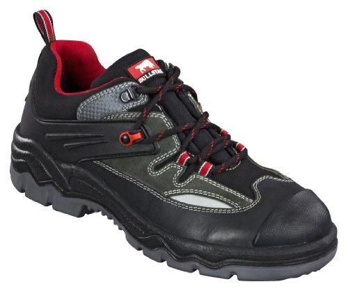 Chaussure de sécurité Runner S3 2452-0-100-45 Chaussure, Cuir avec Nylon, Embout en acier (Largeur 11), Polyuréthane/Semelle en Polyuréthane, Doublure Respirante, Taille 45, Couleur: Noir avec Rayures