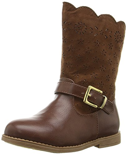 Rampage Girls' Lil Sally Pull-on Boot, Chestnut, 8 M US Toddler