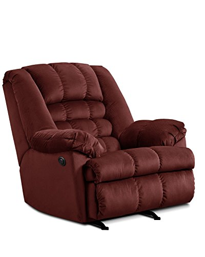 Simmons Upholstery Malibu Power Rocker Recliner, Wine