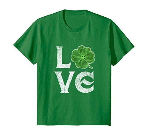 Kids Love Ireland St. Patrick's Day Irish Tshirt Tee Green Clover 8 Kelly Green (Irish Boys Love Green)