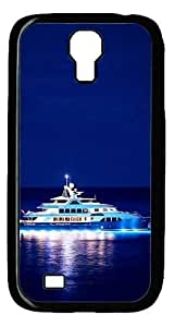 FSK Samsung Galaxy S4 Case,Wonderful Night Boat At Sea City Polycarbonate PC Plastic Hard Case Cover for Samsung Galaxy S4 Black