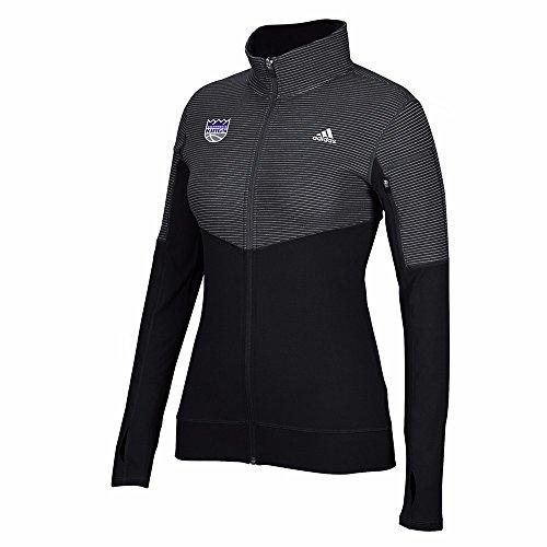 NBA Sacramento Kings Women's Team Logo Lightweight Full Zip Jacket, Large, Black