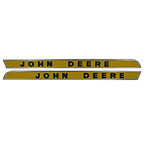 RH / LH Side Hood Molding With Raised Letters Made To Fit John Deere 2510 3020 4000 4020 4320 - Raised Molding
