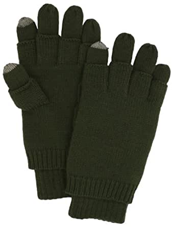 ECHO Men's Touch and Fingerless 3 In 1 Glove, Olive, One Size