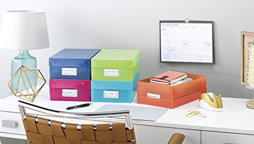 Whitmor 6754-977-5 Plastic Organizer Boxes Set of 5 Assorted Colors