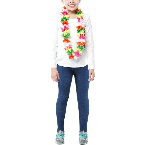 Basico Kids Girls Leggings Cute Skinny (Large, Denim) for sale  Delivered anywhere in USA