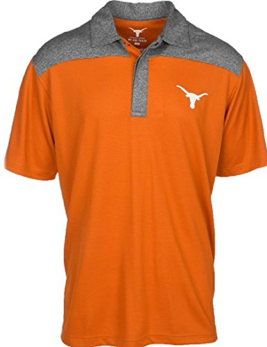 289c apparel Texas Longhorns Mens Gaspar Polyester Polo Shirt - Ut Football Longhorn