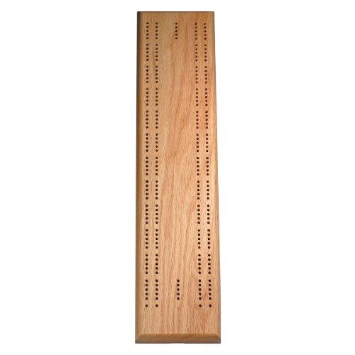 Cribbage Board Oak - Solid Oak Wood 2 track Competition Cribbage Board