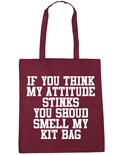 Tote Bag HippoWarehouse Stinks Kit Attitude If Shopping Beach My 42cm My Smell litres 10 x38cm Burgundy You You Gym Bag Think Should 7fan7g