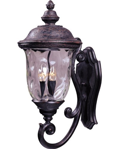 Cheap Maxim Lighting 40424WGOB Carriage House VX 3-Light Bottom Mount Outdoor 26.5-Inch Wall Lantern, Oriental Bronze Finish