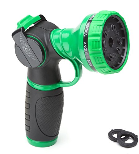 METAL GARDEN HOSE NOZZLE ANTI-LEAK HEAVY DUTY 10 PATTERN ANTI-RUST NO-SQUEEZE SPRAYER + 1 Year Warranty -SOUL (Extra Extended Life)