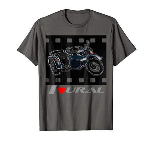 I love URAL T-shirt for russian retro motorcycles lovers