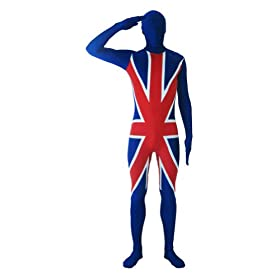- 41Vv56ZLQEL - SecondSkin Men's Full Body Spandex/Lycra Suit With UK World Flag Design