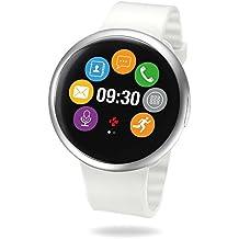 MyKronoz ZeRound2 Smartwatch Circular Color Touchscreen - Silver/White (Certified Refurbished)