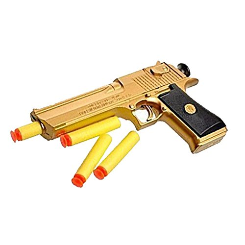 Ferbixo 1 New Golden Desert Eagle Toy Foam Dart Gun Toys The Perfect Gift for Children