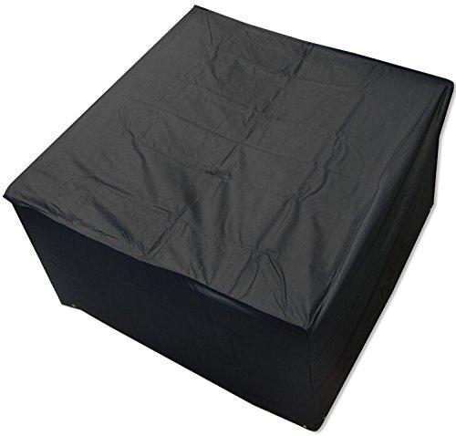 Oxbridge - Housse de protection pour salon de jardin en rotin - étanche/résistante - carré - noir