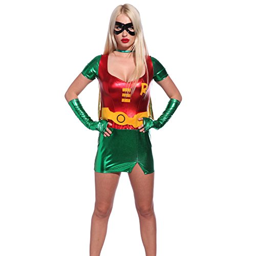 [Sexy Superwoman Costume Miss Robin L us 10 12] (Comic Con Costumes For Females)