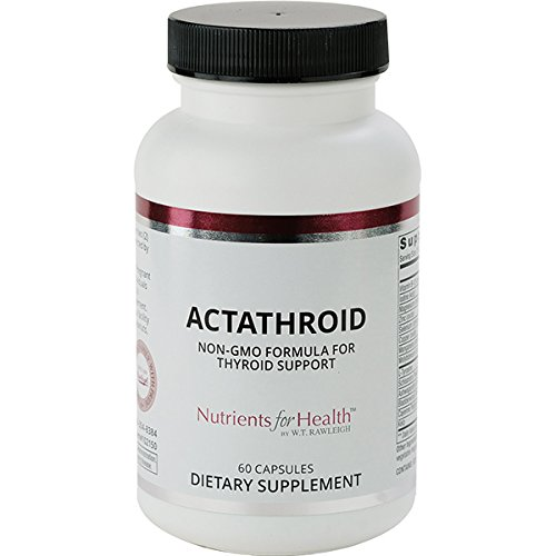 Thyroid Support Supplement  Actathroid: 60 Capsules  Nutrients for Health by WT Rawleigh