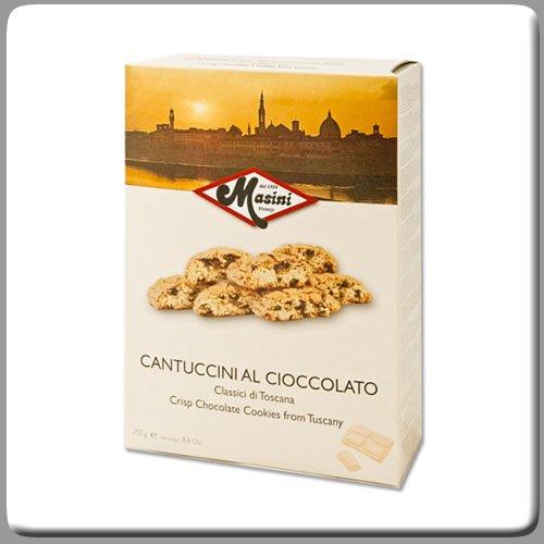 Masini Cantuccini Alla Mandorla -Crisp Chocolate Chip Almond Cookies from Tuscany (Biscotti Toscana)