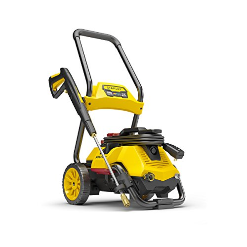 Stanley SLP2050 2050 psi 2-in-1 Electric Pressure Washer Mobile Cart Or Detach Portable Use With Detergent Tank, Yellow, Medium (Electric 1)