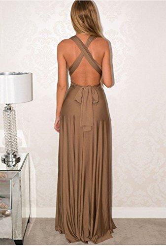 Huateng Método de la mujer del vestido del vendaje cruzado de la cuerda multi Vestido de fiesta del verano del vestido del halter atractivo: Amazon.es: Ropa ...