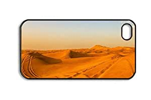 Iphone 4 4s PC Hard Shell Case Desert Background 8 Black Skin by Sallylotus