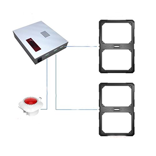Non visual 58Khz eas system fashion clothing shop security alarm system with antenna hidden by ZFD®