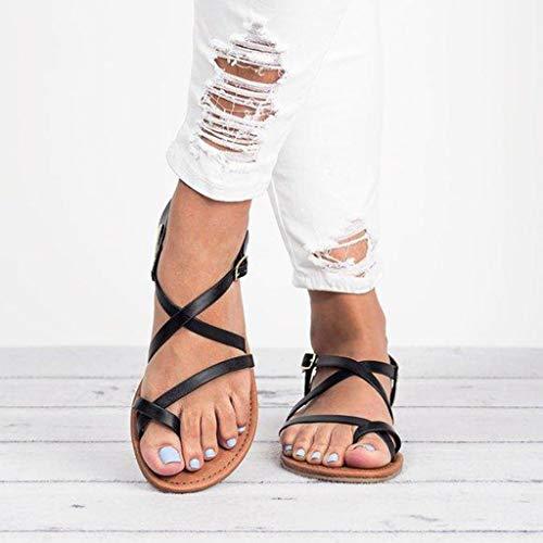 De Romanas Y Gran Sandalias Zapatos Tamaño Verano Negro Absolute 2019 Chanclas Para Playa Mujer Planas n5IdAx