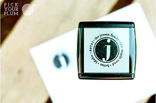 Personalized Self-inking Holiday Address Stamps (Jensen), Custom Stamp Monogram, Self Inking Stamp Personalized, Personalized Rubber Stamp, Self Inking Address Stamper, Monogram (Diy Address Number Kit)