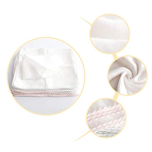rganics Washcloths Infant Handkerchief Bib Pure Cotton Gauze Square Bath Towels Breathable Reusable Saliva Wipe ()
