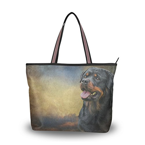 Large MyDaily Women Dog Bag Tote Rottweiler Handbag MyDaily Women Shoulder Tote ARPxvqA