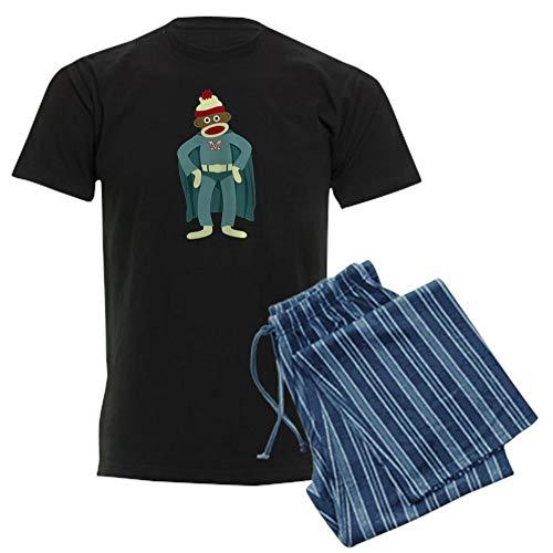 CafePress Sock Monkey Superhero Unisex Novelty Cotton Pajama