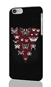 Moth Triangle Pattern Image - Protective 3d Rough Case Cover - Hard Plastic 3D Case - For iphone 4 4s -