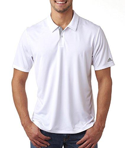 adidas Golf Mens Gradient 3-Stripes Polo (A206) -White -L
