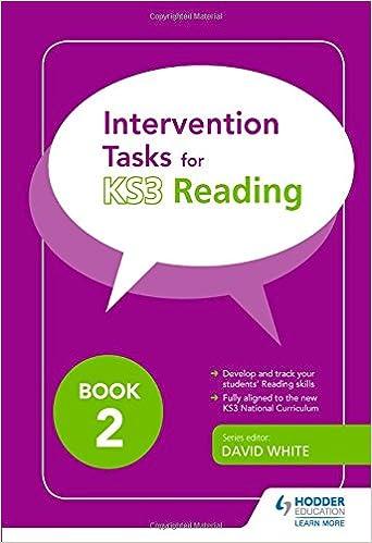 Intervention Tasks for Reading Book 2: David White: 9781471838354 ...