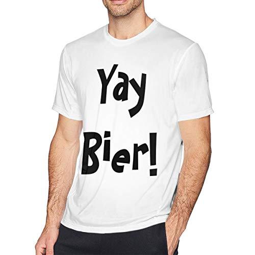 CLANN Yay Bier! Men's T-Shirt White 6XL ()