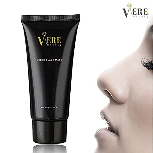 VereBeauty Blackhead Remover Mask, active Charcoal Peel-off Mask, Deep Cleansing, Acne & Oil Control Cleaner Mask, Best Facial Cleaning Mask for Face & Nose Acne Treatment (60ml)