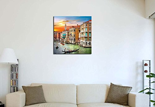 Scenic Views Of Venice Canal Boat Italy Town Landscape Print On Canvas Giclee Artwork For Wall Decor Modern Canvas Painting Wall Art The Picture For Home Decoration