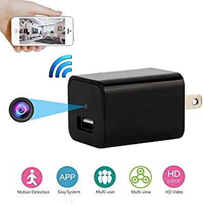 MAGENDARA Wifi Hidden Spy Camera Mini Camera Wireless Wall Charger Adapter Camera Nanny Cam With Motion Detection from DICPHIL