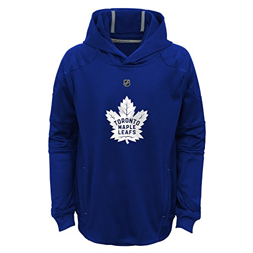 Toronto Maple Leafs Pullover - Outerstuff NHL Toronto Maple Leafs Youth Boys Mach Pullover Hoodie, Medium(10-12), Dark Blue