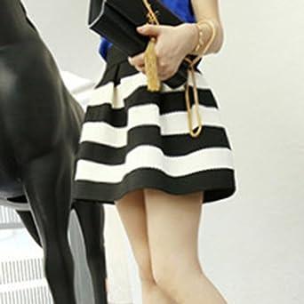 49b368b4d Sheepriver para Mujer Floral de la Princesa Falda Corta Plisada Gasa Floral  Chicas Mini Falda con Cintur¨®n