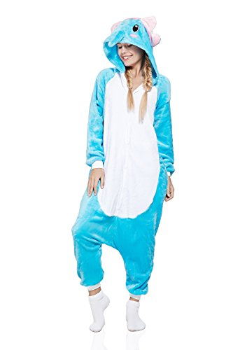 Adult Elephant Kigurumi Animal Onesie Pajamas One Piece Cosplay Costume (Medium, (Trajes De Halloween Baratos)