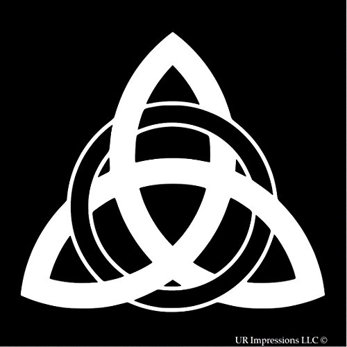 Trinity Knot Meaning (Triquetra Knot Celtic Knot Decal Vinyl Sticker|Cars Trucks Walls Laptop|WHITE|5.5 In|URI406)