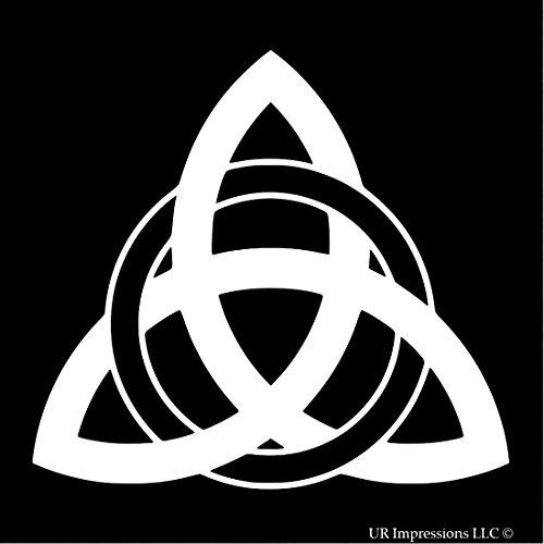 UR Impressions Triquetra Knot Celtic Knot Decal Vinyl Sticker for Cars Trucks SUV Vans Walls Window Laptop|White|5.5 X 5.1 inch|URI406